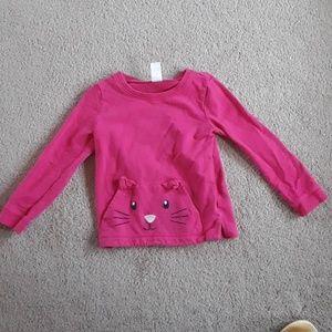 Carters 5T girls cat sweatshirt